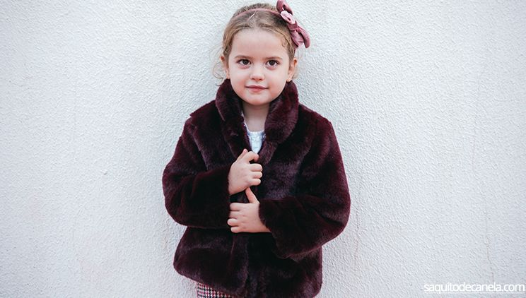 abrigo de pelo para niña