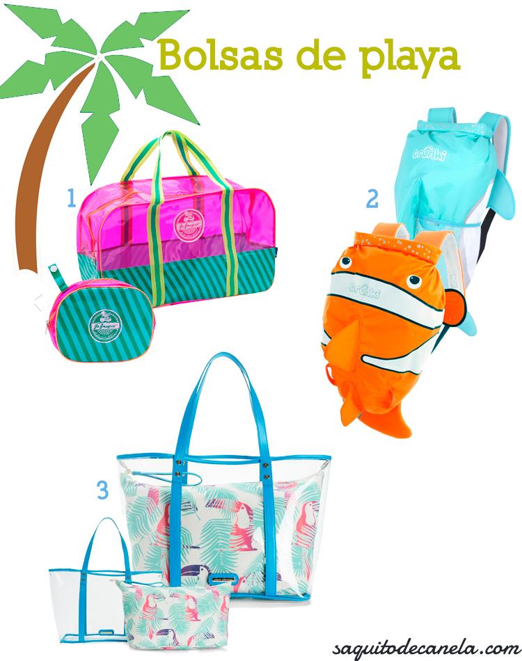 Bolsas de playa o para piscina saquitodecanela for Plastico para hacer piscina