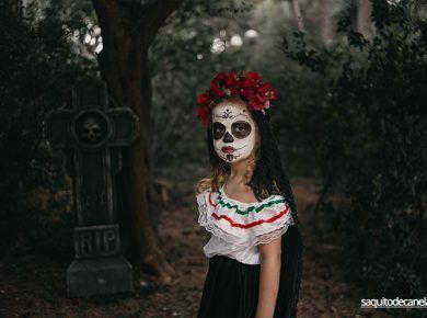 maquillaje catrina niña