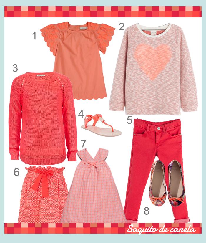 moda infantil tendencia coral