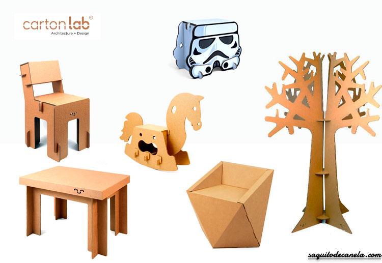 Muebles de cart n para enamorarse saquitodecanela for Muebles de carton precios