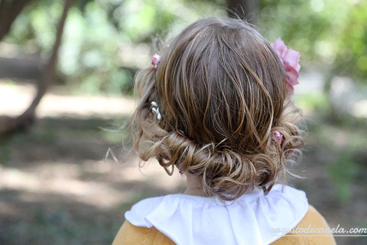 Peinados para nina con el pelo recogido