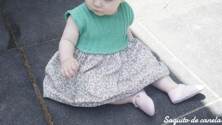 vestido de punto verde