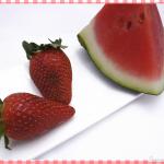 Polo de sandia y fresas