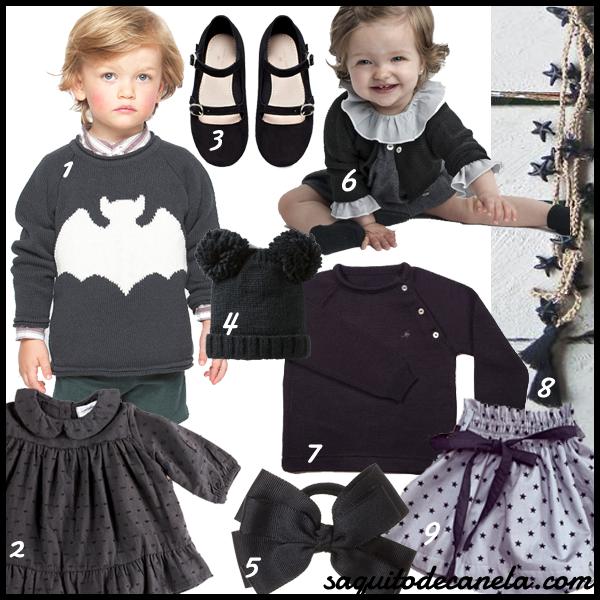 Negro Tendencia moda infantil