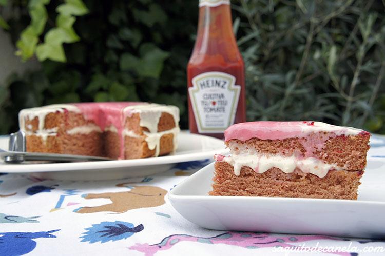 tarta dulce de ketchup
