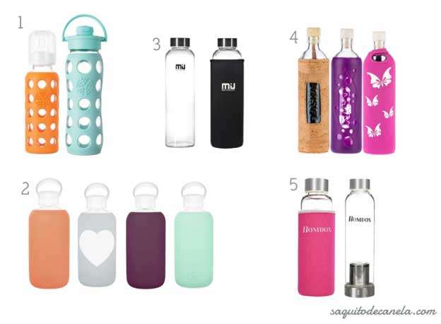 Botella Vidrio Viaje