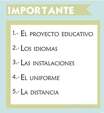 cosas importantes elegir un colegio