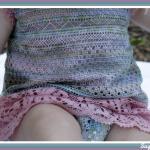 Vestido para niña de bolillos