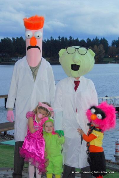 disfraz familia muppets