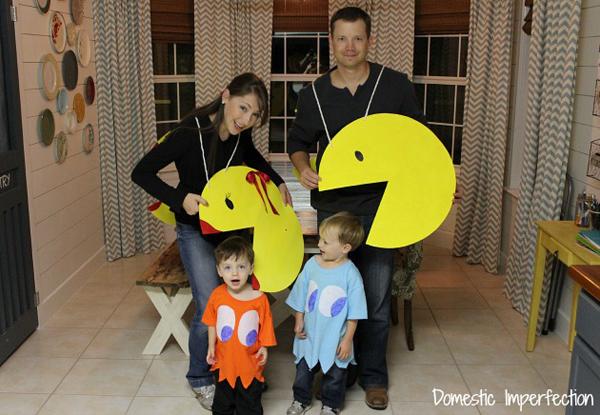 disfraz familia pacman