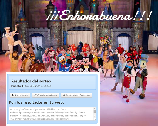 ganadora disney on ice