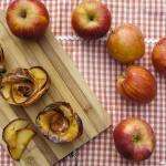 Pastel de manzana en flor