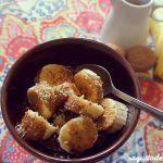 Plátano con chocolate y frutos secos sin azúcar