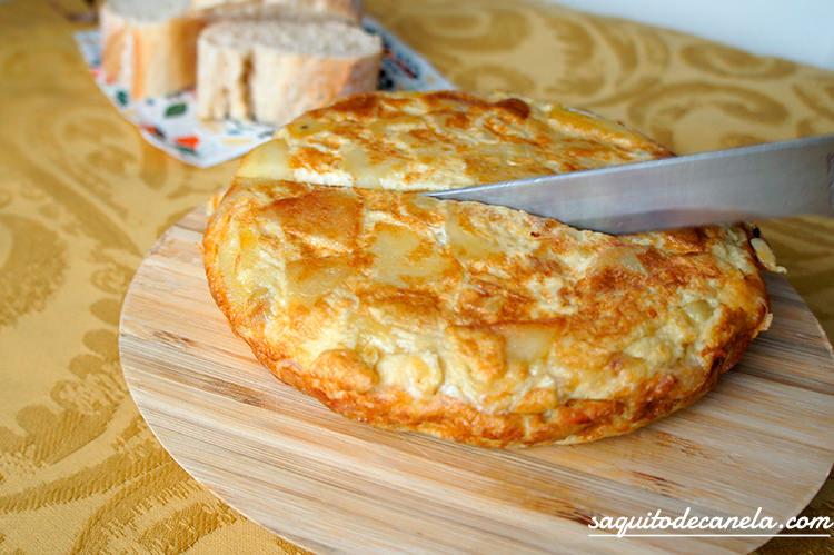 tortilla rellena de patatas