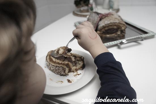 receta tronco de navidad niños