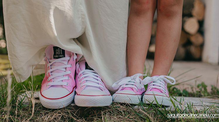 zapatillas teñidas